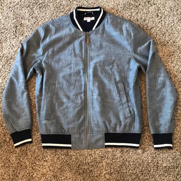 76ac44bfef1 Merona chambray bomber jacket. M 5ad24d993b160818d141234c